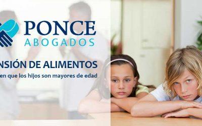La Pensión de Alimentos y los Hijos Mayores de Edad