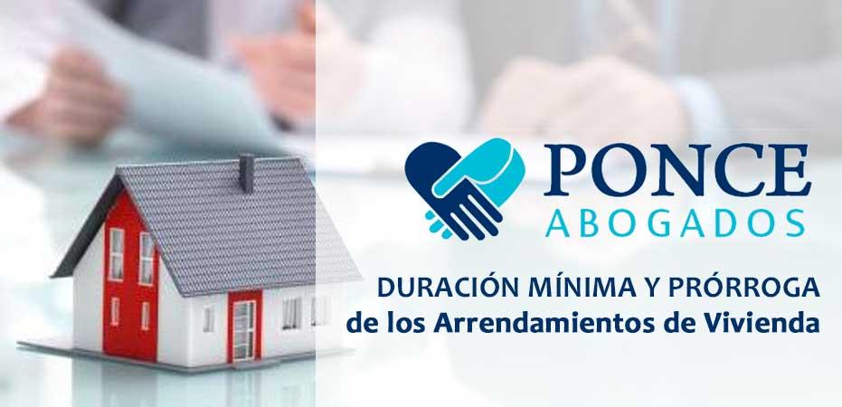 Duración mínima y máxima de los contratos de arrendamiento o alquiler de vivienda piso o casa. Abogados Albacete